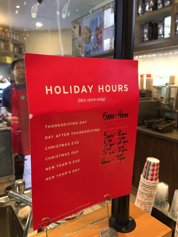Starbucks Christmas Hours.Holiday Hours Christmas Yelp