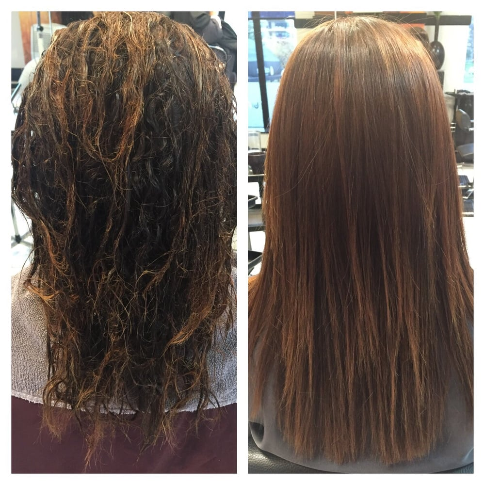 Keratin treatment with cmc protein treatment hair looks feels much healthier performed by - Salon straightening treatments ...