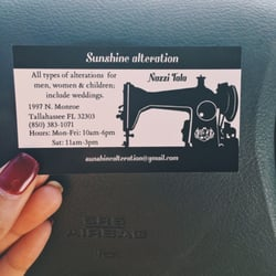 Sunshine alteration 12 photos sewing alterations 1997 n photo of sunshine alteration tallahassee fl united states business card colourmoves