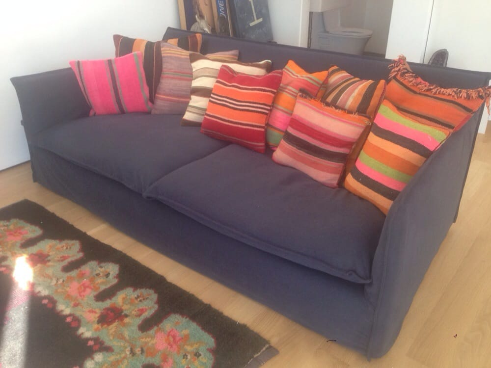 Crate Barrel Oasis Sofa With New Slipcover And Pillows Courtesy Of