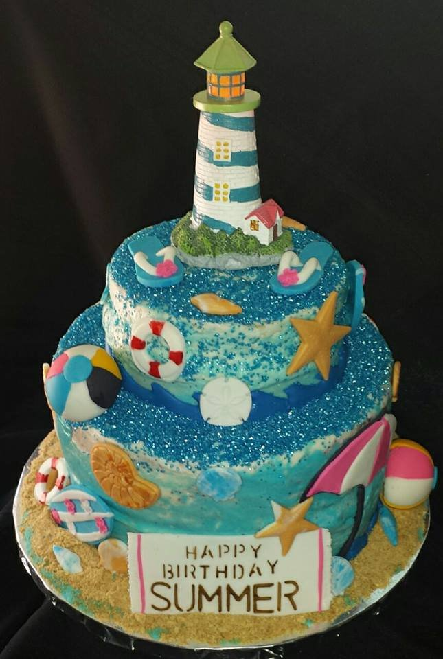 Beach Theme Birthday Cake Yelp
