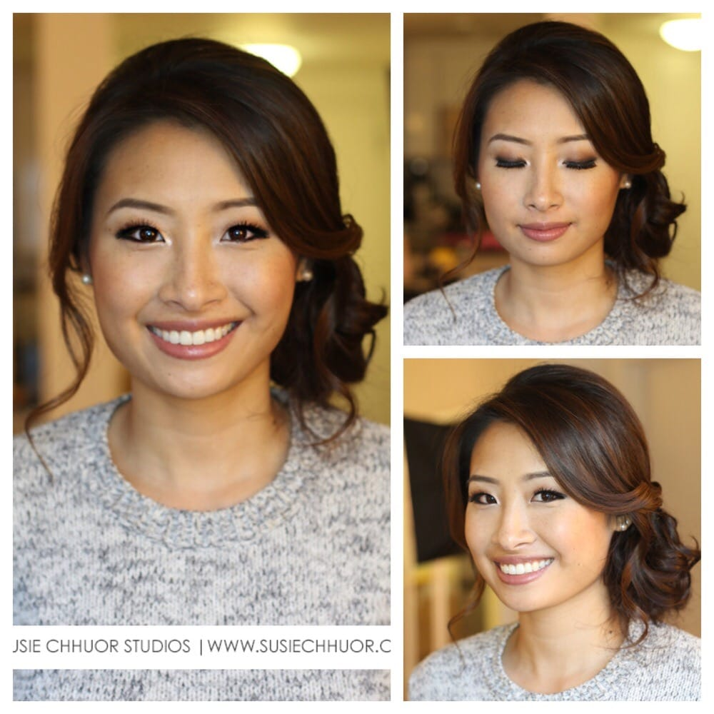My Wedding Trial With Susie Love The Messy Side Bun And My Make Up
