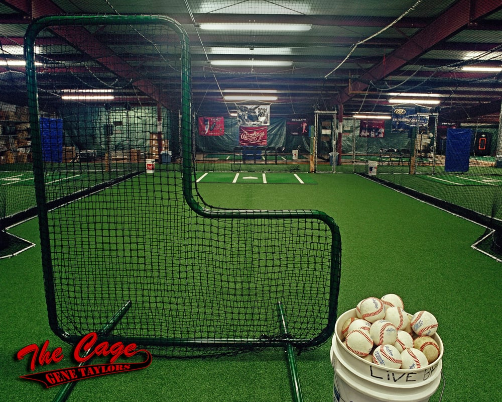 indoor and outdoor baseball batting cages with synthetic turf
