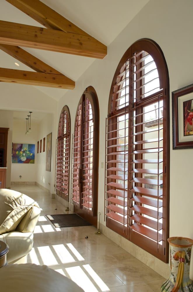Big beautiful arched windows and doors deserve big for Window fashions of texas
