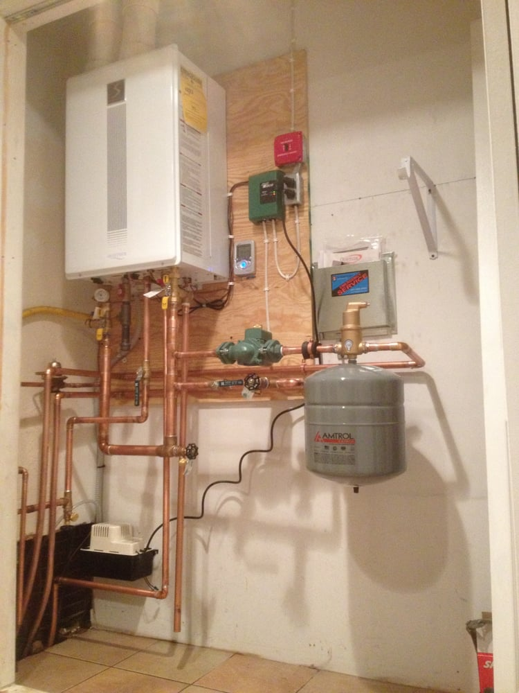 Tankless Boiler Water Heater Installation Heating A C