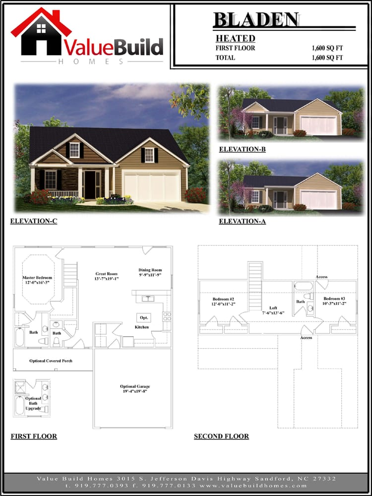 Bladen house plan yelp for Value house plans