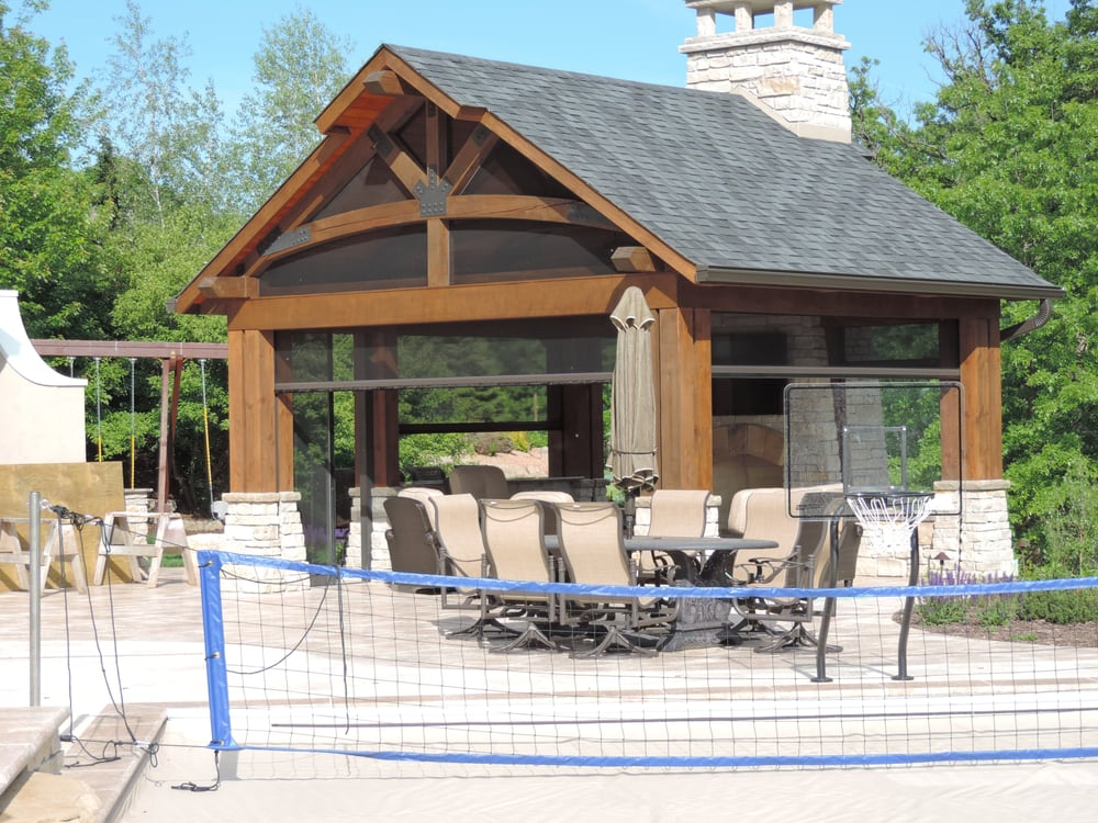 Retractable motorized porch screens roll screens for for Motorized outdoor patio screens