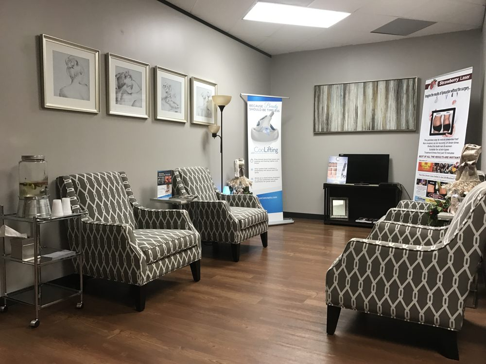 Newly redecorated waiting area yelp - Lumiere salon ...