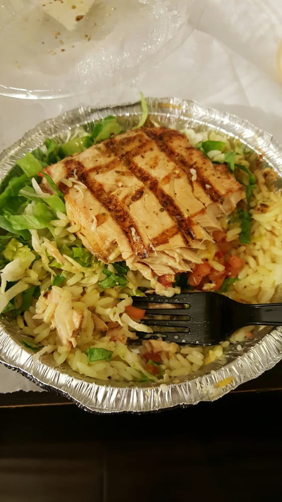 Salmon bowl takeout really good and a generous serving for Malibu fish grill