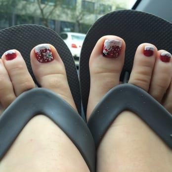 Photo Of Texans Nails Spa Pasadena Tx United States Christmas Toes