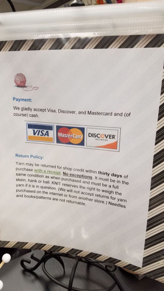 The payment and return policy which they do not print on
