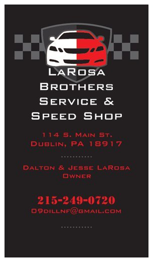LaRosa Brothers Service and Speed Shop: 114 S Main St, Dublin, PA