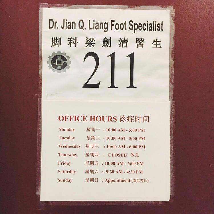 Liang Jian Q, DPM: 139 Centre St, New York, NY
