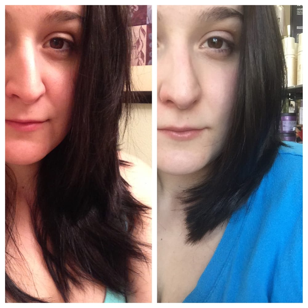 before and after. awesome use of thinning scissors and skill. oanh