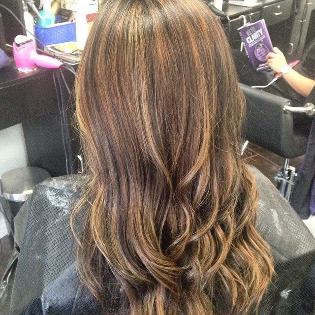 Soft Blonde Highlights And Warm Brunette Color Yelp