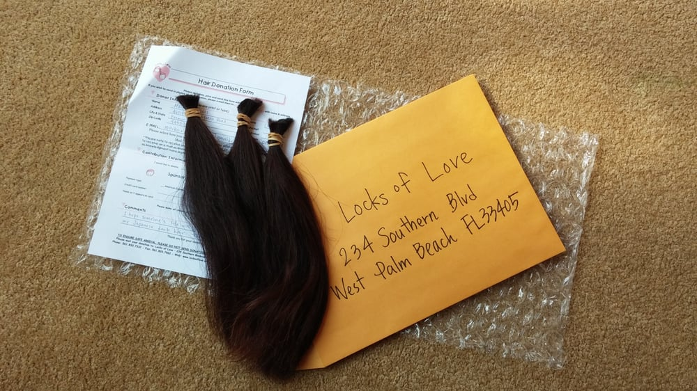 mailing my hair to locks of love, bye my hair. - yelp
