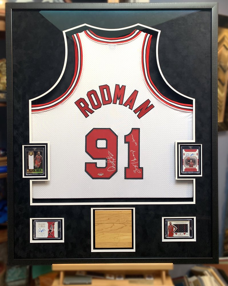 Jacquez Art and Jersey Framing