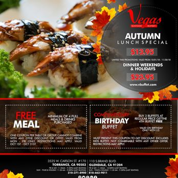 coupons for vegas seafood buffet glendale