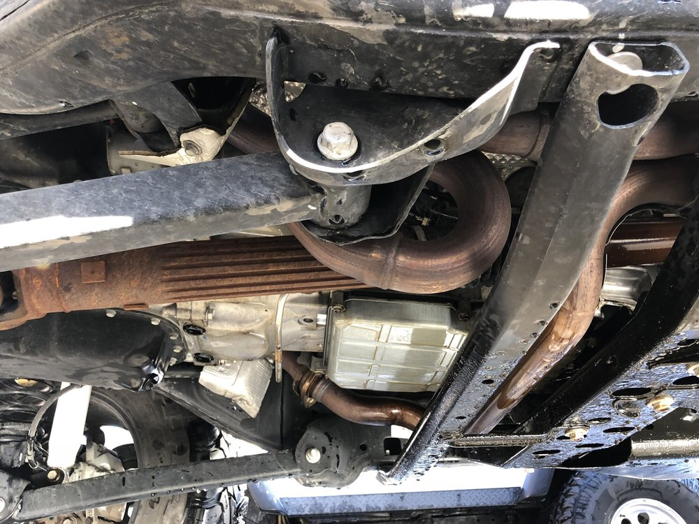 undercarriage soaked in oil - Yelp