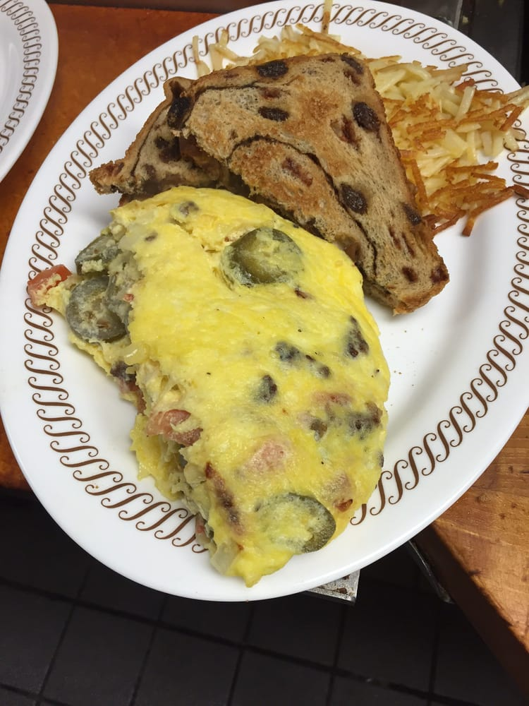 That's how a Fiesta Omelette should look!!!! YUM! - Yelp