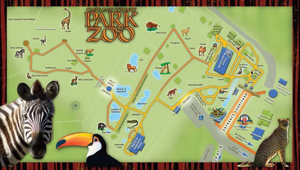 Map of Cape May Zoo - Yelp Cape May Hotel Map on