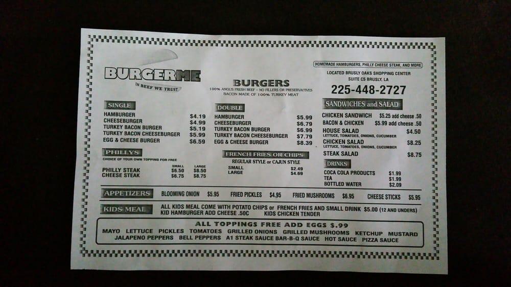 Burger Me: 400 St Francise, Brusly, LA