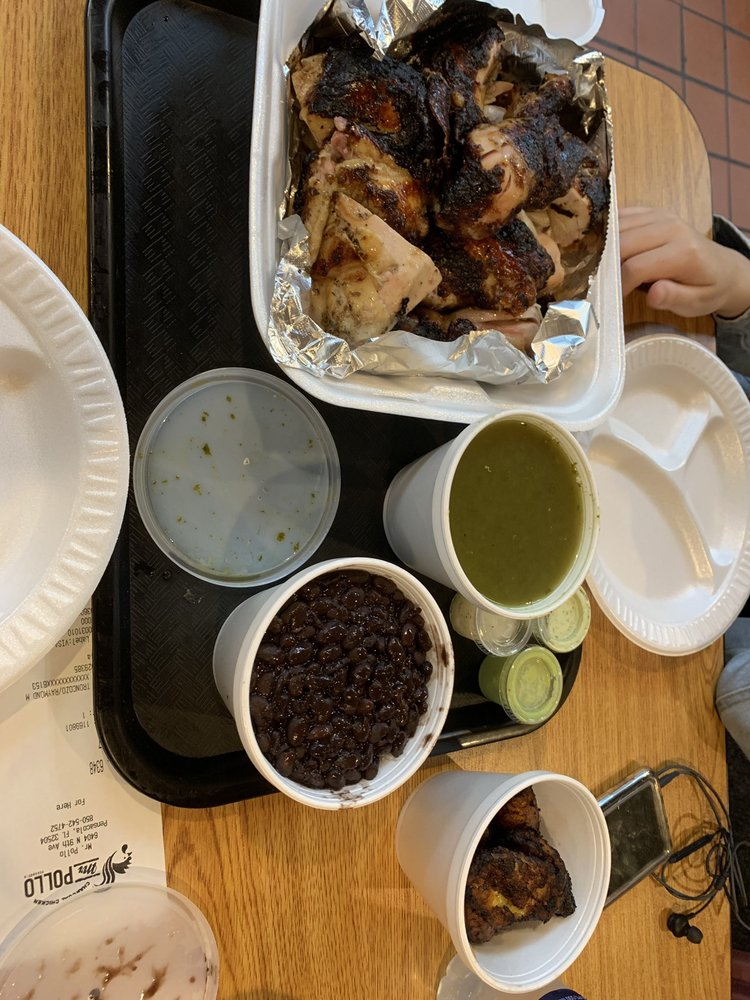 Food from Mr. Pollo