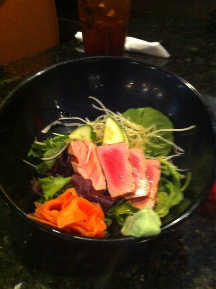 Tuna tataki the tuna was a little over cooked but still for Jasmine cuisine