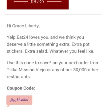Eat24 coupon code
