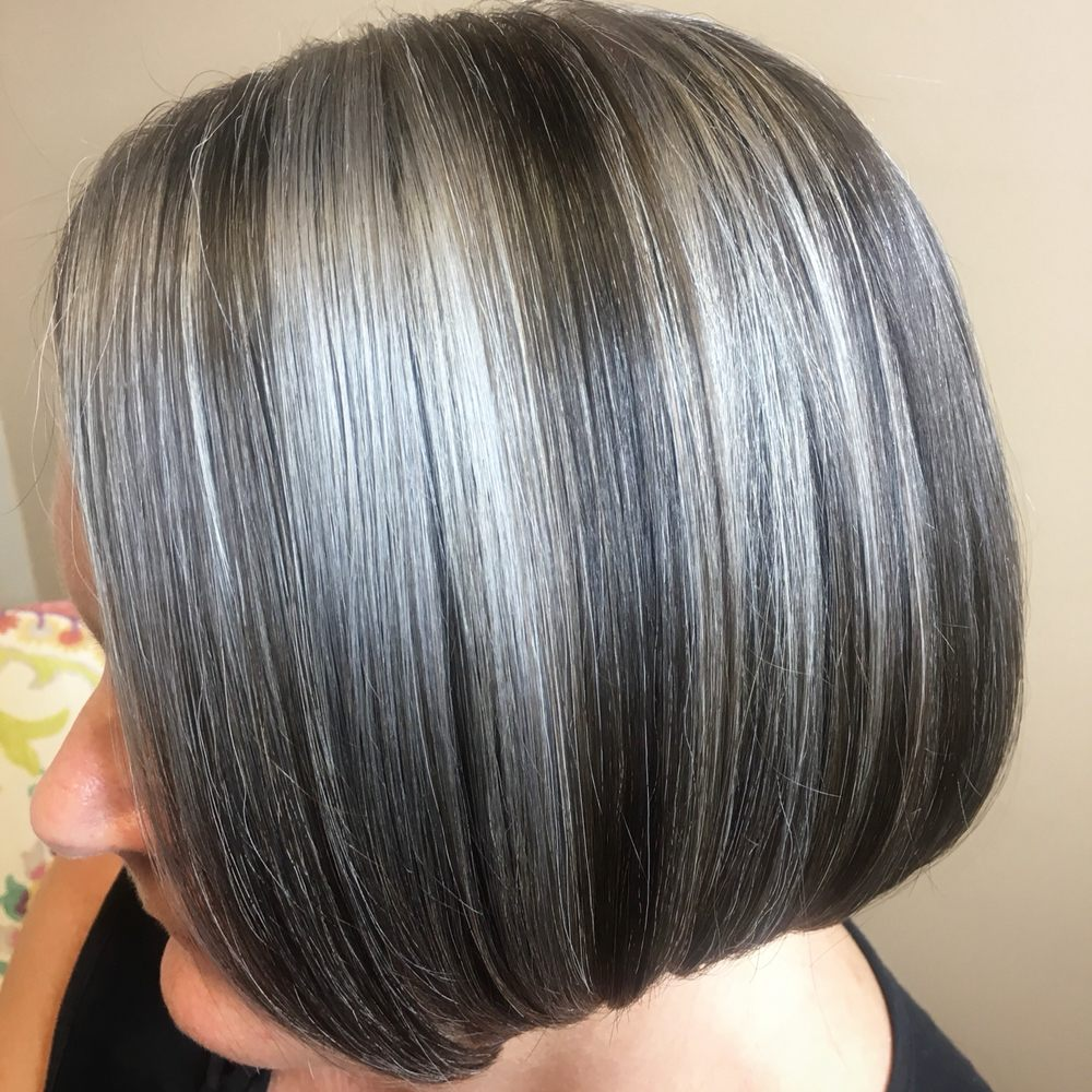 Dont Cover It Accentuate Your Natural Grey By Adding Lowlights And