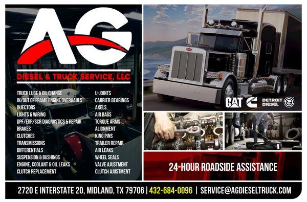 AG Diesel & Truck Service 2720 E Interstate 20 Midland, TX