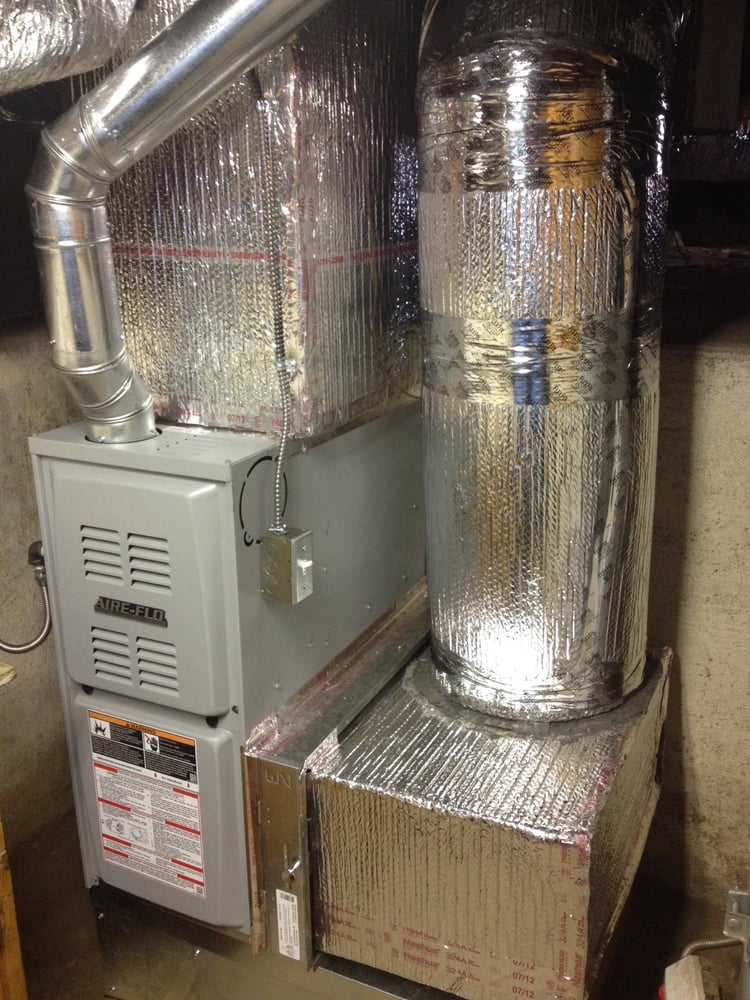 furnace with return duct along side installation in basement yelp
