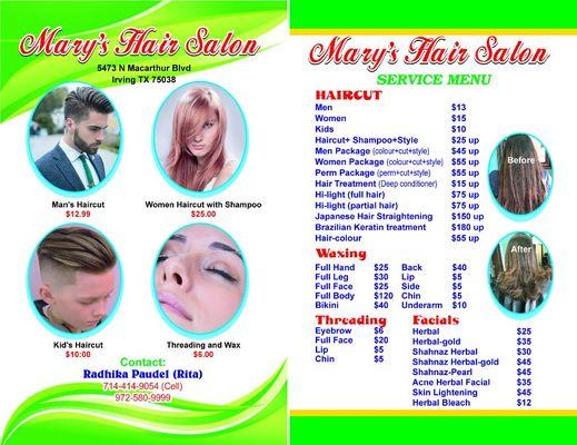 Marys Hair Salon 5473 N Macarthur Blvd Irving Tx Hair Salons