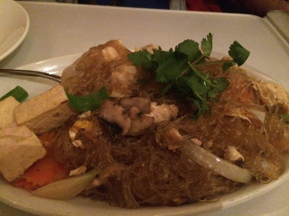 Crystal noodles with tofu yelp for Amarin thai cuisine