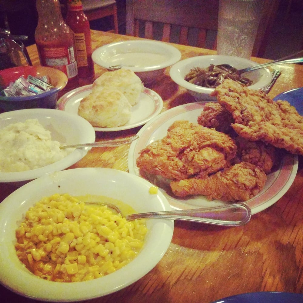 Fried Chicken And Chicken Fried Steak Plus All The Sides You Can