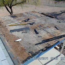 Photo Of AZ Roof Restoration   Tucson, AZ, United States. Porch Roof Torn