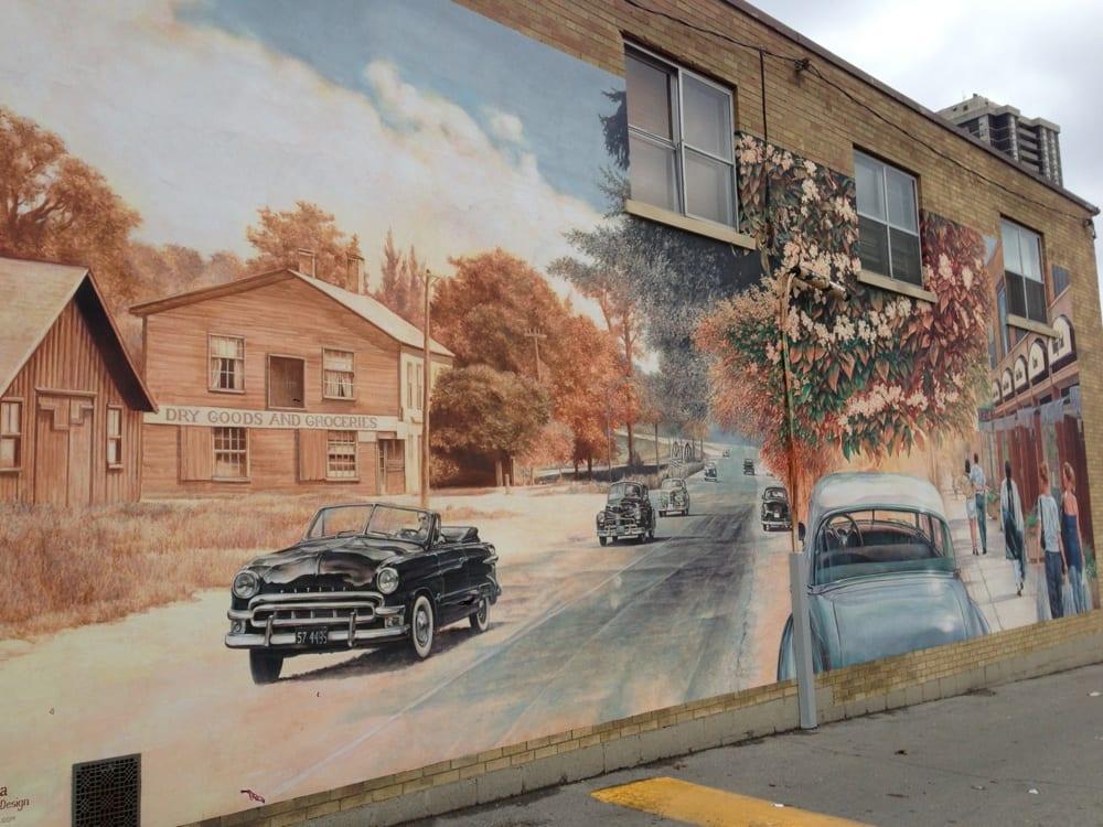 Village of islington murals public art dundas and for Mural village