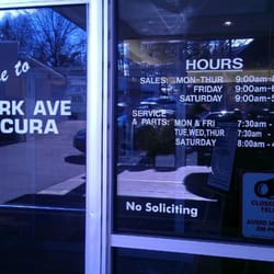 Park Ave Acura Reviews Auto Repair W Passaic St - Park ave acura parts
