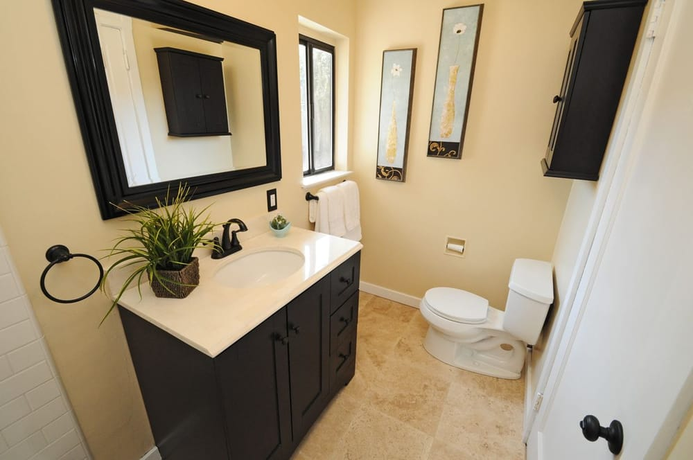 "Travertine Bathroom Floor bathroom floor, 18"" travertine. west petaluma home. - yelp"