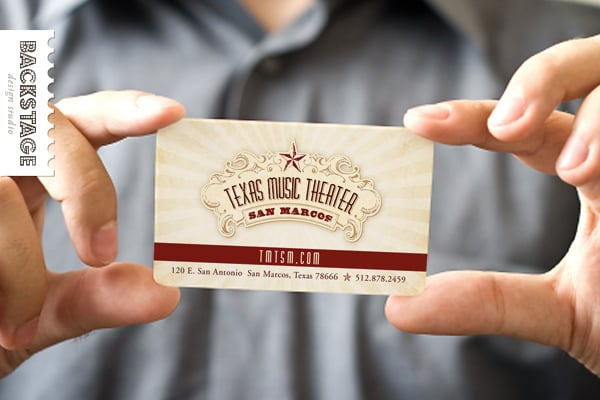 Texas music theater branding logo business card yelp photo of backstage design studio llc austin tx united states texas colourmoves