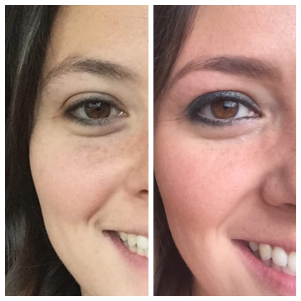 Before And After Getting My Eyebrows Waxed And Tinted Yelp