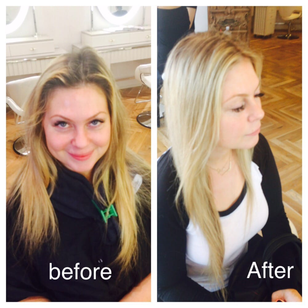 Over Highlighted Brassy Blonde To Beautiful Buttery Melted Highlight