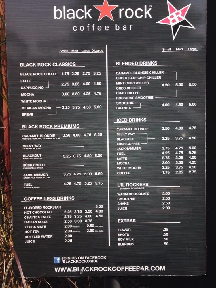 Classic Rock Cafe Menu