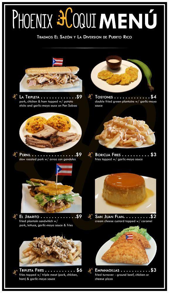 Phoenix Coqui Food Truck Menu Yelp