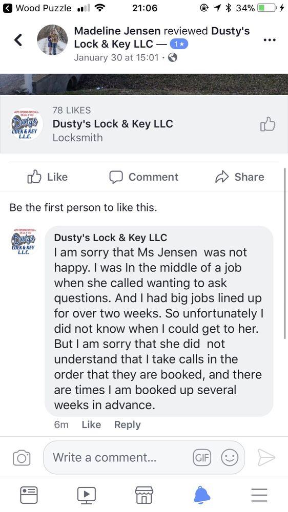 Dusty's Lock & Key: Enid, OK