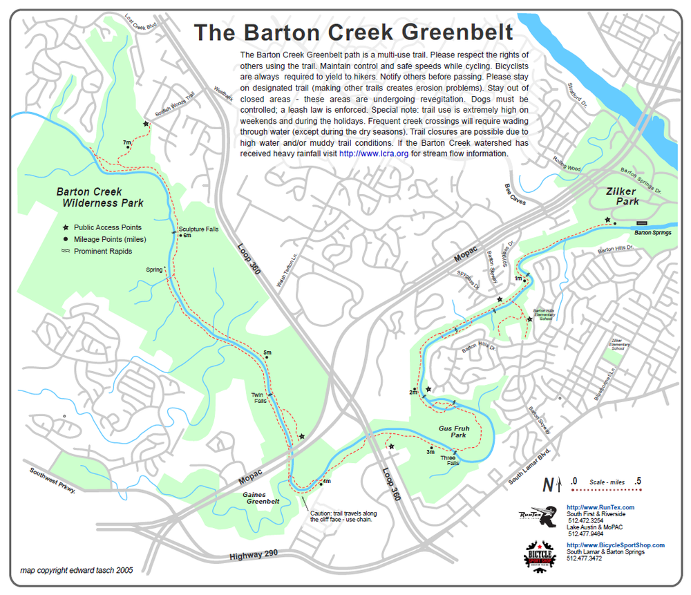 austin greenbelt guide
