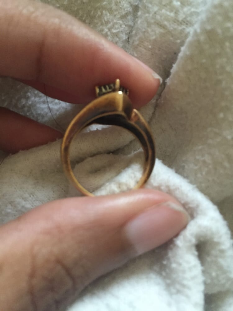 """This is what Sears sells """"Real gold"""" engagement rings that"""