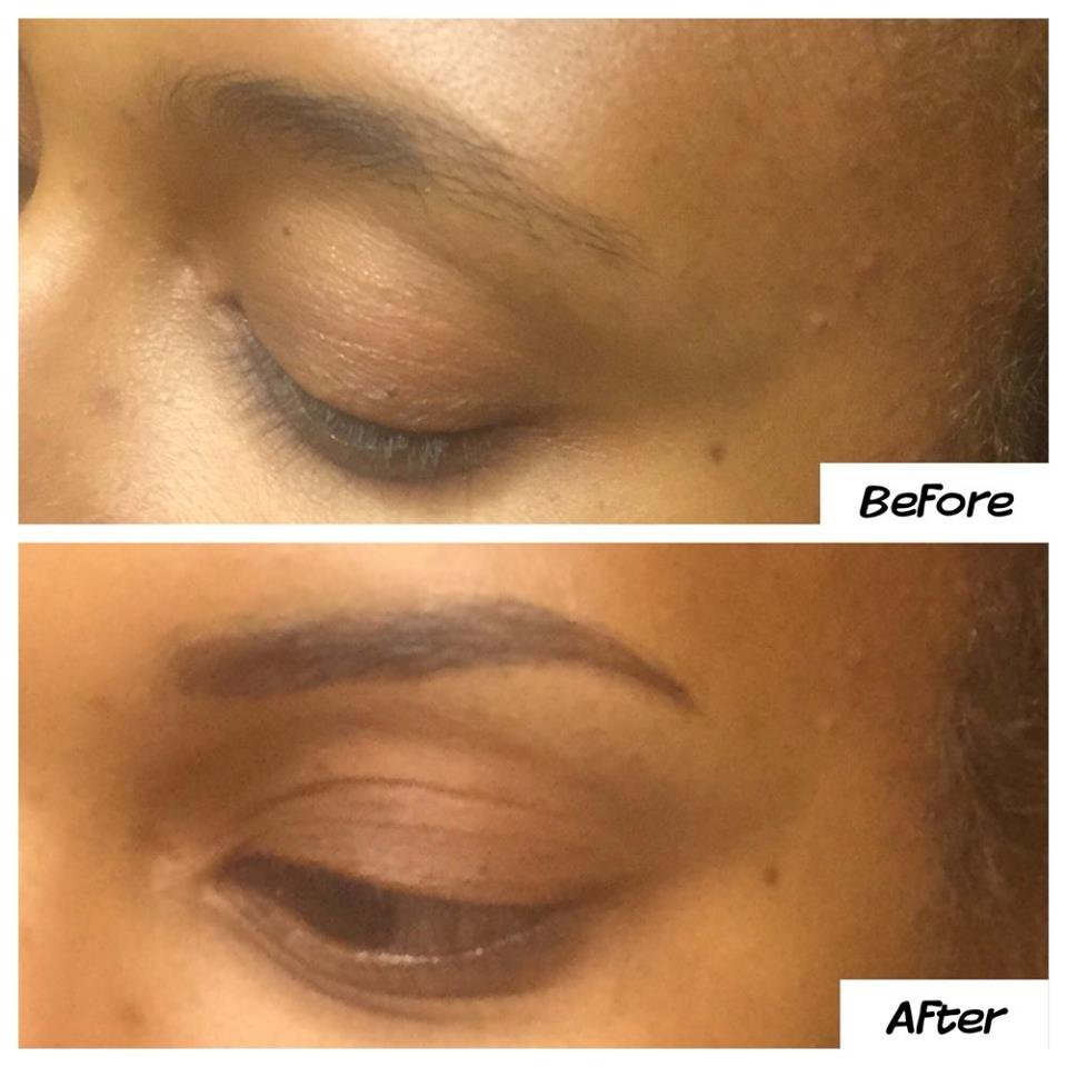 Permanent Makeup On Eyebrows Achieved By Digital Machine And Highest