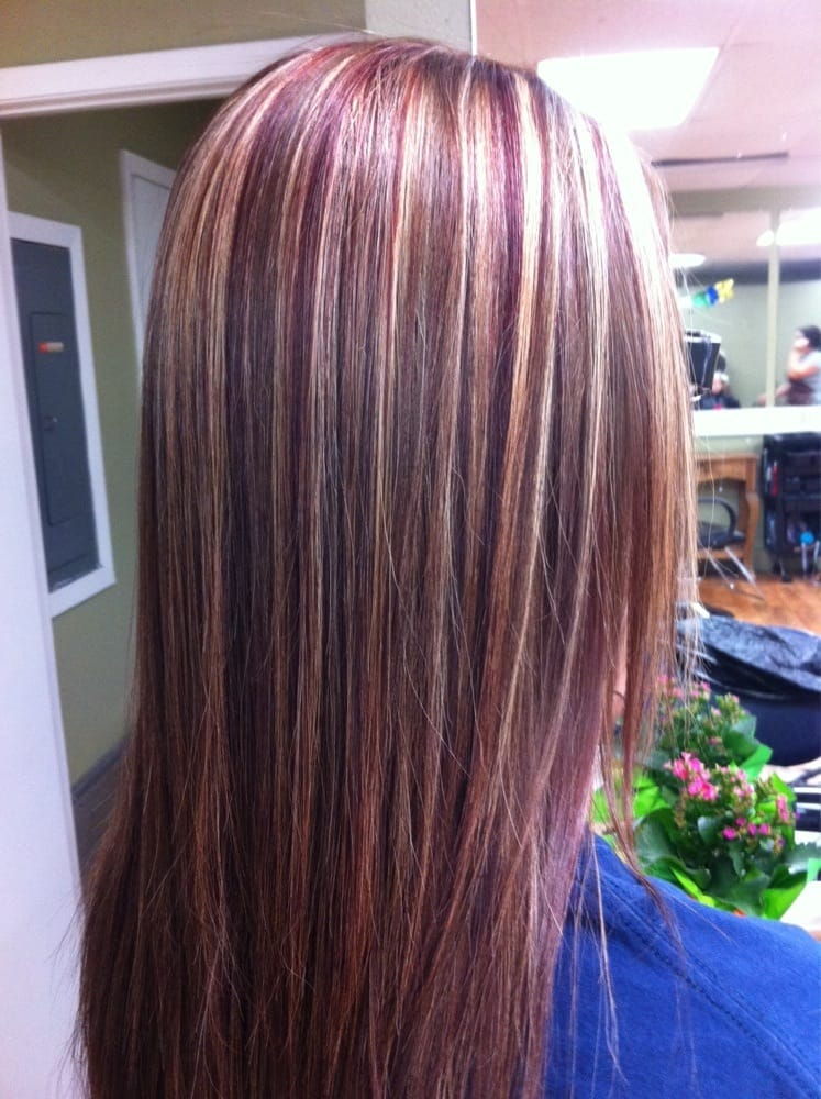 I Added Two A Blond And Red Highlights And Along With Her Natural