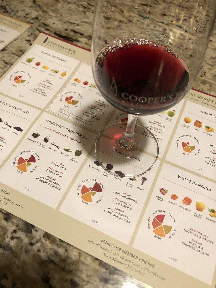 Cooper's Hawk Winery & Restaurants - Tampa: 4110 W Boy Scout Blvd, Tampa, FL